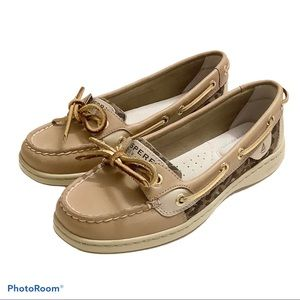NEW Sperry Angelfish Leopard Jacquard Boat Shoe